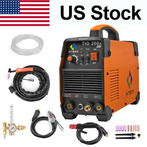 Hittbox Tig200 Welder 220v Inverter Tig Mma Arc Welder Stick Welding Machine Set