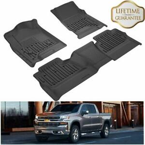 Floor Mats Liners For 2014 2019 Chevrolet Silverado Gmc Sierra 1500 2500 3500