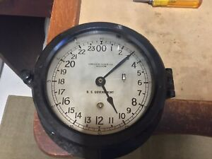 1943 Chelsea U S Government Ships Clock