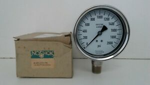 New Old Stock Noshok 1 2 0 2000 Psi Pressure Gauge 40 400 2000 40 400 2000