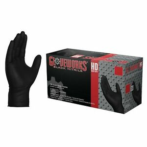 1000 Gloveworks Gwbn Nitrile Industrial Latex Free Disposable Gloves Black