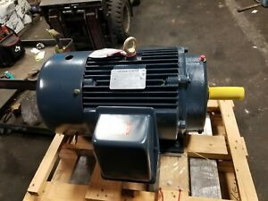 New Leeson 20 Hp Electric Ac Motor 230 460 Vac 256t Frame 1768 Rpm 3 Phase