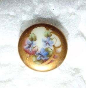 Antique Porcelain China Stud Button 5703