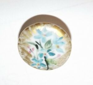 Antique Porcelain China Hand Painted Stud Button 2602
