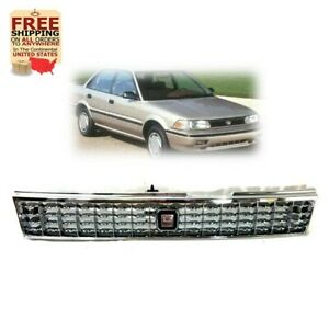 Front Grille For Toyota Corolla 88 92 Ae90 Ae92 93 94 Chrome Grill Jdm Style