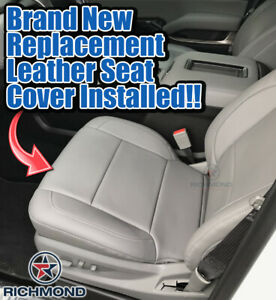 2016 2017 Chevy Tahoe Suburban Lt Ls driver Side Bottom Leather Seat Cover Gray