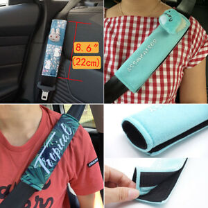 Soft Cute Fur Seat Belt Shoulder Pad Cover For Adults Children Comfortable Drive