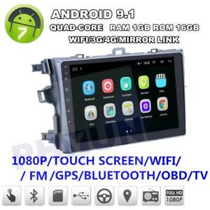 9 android 9 1 Quad core 1 16gb Car Stereo Radio Gps For Toyota Corolla 2006 2012