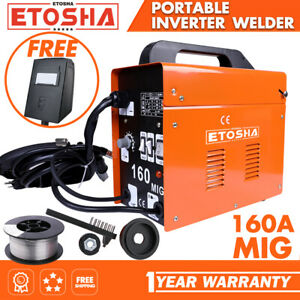 Mig 160a Welder Inverter Flux Core Wire Gasless Ac Arc Metal Welding Machine