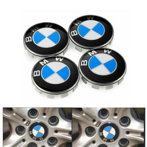 4x For Bmw 1 3 Series Wheel Center Hub Caps Cover Badge Emblem 10 Pin Clips 68mm