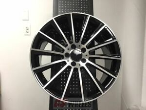 4 Set Of Brand New S550 Style 19 Amg S63 Black Rims Wheels Fits Mercedes Benz
