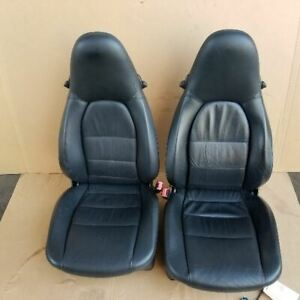 Porsche 911 996 Front Seats Pair Left Right Heated Black Leather