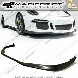 For Porsche 991 1 911 Gt3 Replacement Front Bumper Lip Chin Spoiler Polyurethane