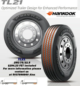 Commercial Semi Truck Tires Hankook Tl21 295 75r 22 5 14ply