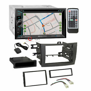 Soundstream Dvd Gps Bt Stereo Grey Dash Kit Harness For 2009 13 Toyota Corolla