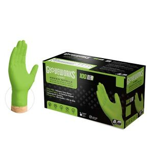 1000 Gloveworks Gwgn Nitrile Industrial Latex Free Disposable Gloves Green
