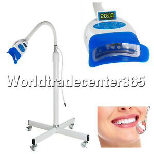 Mobile Floor Dental Teeth Whitening Led Lamp Light Bleaching Machine For Dentist