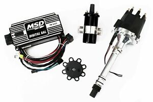 Msd Ignition 6al Box W Tsp Pro Billet Distributor Coil 6425 Sbc Bbc Black