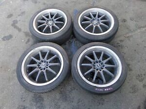 18 Msr Wheels 5 100 114 3 Bald Tires Mini Cooper S R53 R56 Vw Mk4 Golf Jetta