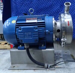 Spxflow 2085lv Stainless Steel Centrifugal Pump W Weg Cc029a 15hp Motor 575v