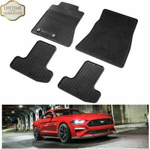 Floor Mats For 2015 2019 Ford Mustang Pony Horse Front Rear Row Mat Liners Set