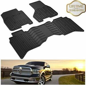 All Weather Tpe Floor Liner Mats For 2013 2018 Dodge Ram 1500 2500 3500 Crew Cab