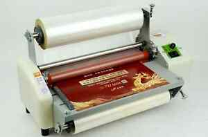 Newest Version Four Rollers Hot And Cold Roll Laminating Machine For 13 Na