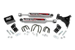 Rough Country Jeep Dual Steering Stabilizer 2 6 Lifts 87349