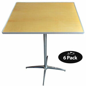 6 Square Bistro Tables Heavy Duty 36 Cafe Table With Two Posts 30 42