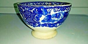 Abbey Porcelain Ceramic Bowl Blue White 4 5 Diameter 3 Tall