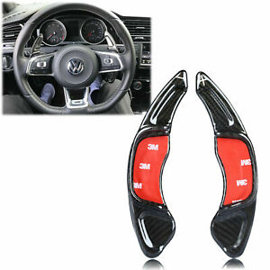 Carbon Fiber Paddle Dsg Shifter Extensions For Vw Golf Mk7 Scirocco R 2015 2019