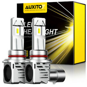 Pair Auxito 9005 Hb3 Led High Beam Headlight White 6500k 200w 24000lm Bulbs Kit