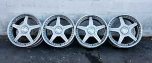 Racing Hart M5 Wheels Dazz Motorsports 17 3 Piece Forged Honda Acura Etc