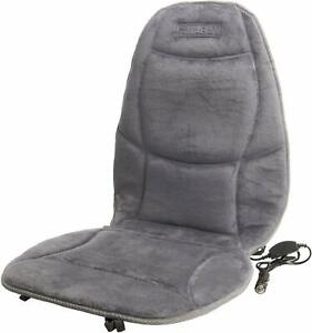 12v Heated Seat Cushion With Lumbar Support With Controller Color Gray
