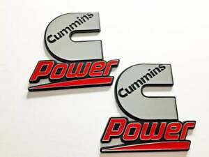 2 Cummins Diesel Power Badges Emblems Decals Dodge Ram Kenworth Peterbilt Volvo
