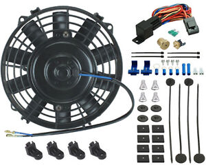 7 Inch Electric Fan Transmission Oil Cooler 3 8 Thermostat Switch Wiring Kit