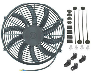 15 Inch 90w Electric Radiator Cooling Fan 12 Volt Pusher puller High Power Cfm