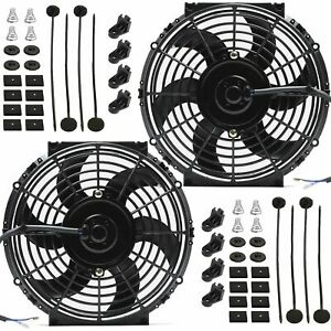 Dual 11 Inch Electric Fans 12v Radiator Condenser Cooling Best High Power Cfm