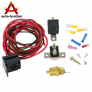 Wiring Switch Kit Fan Thermostat Relay 175 To 185 Degree For 351w 330 Engines