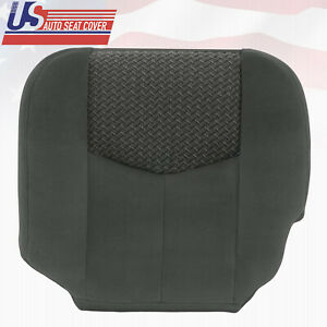 2003 To 2004 Chevy Avalanche 1500 2500 Driver Bottom Cloth Seat Cover Drk Gray