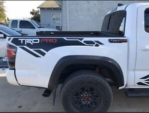 Toyota Tacoma Trd Pro Side Bed Vinyl Decals Graphics Stickers