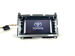 Toyota Venza Gps Navigation Touch Screen Radio 86140 0t060 Faceplate 57059