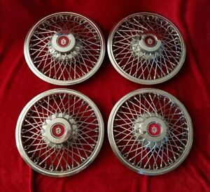 1983 Oldsmobile Wire Hubcaps 14 Spoke Wheel Covers 1984 1985 1986