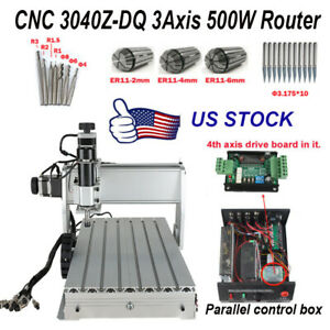 Cnc 3040z dq Router 3 Axis Wood Engraving Milling Cutting Machine 500w Engraver