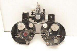 Early Optical Bausch Lomb Refractor Phoropter Eye Exam Tools Machine Vintage