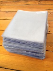 Huge Lot Of 93 Clear Thick Plastic Sleeve Art Artwork Covers 8 5x11