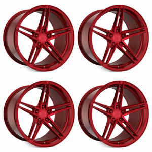 20 Rohana Rfx15 Red 20x9 20x11 Concave Wheels Rims Fits Lamborghini Gallardo