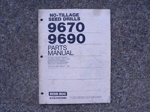 Illiston No Tillage Seed Drill 9680 Operators Owners Manual 1985 Repair Parts