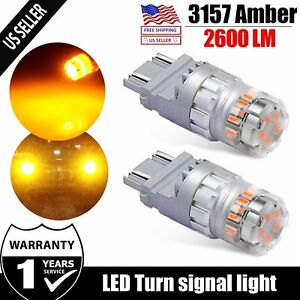 Jdm Astar 3157 Amber Yellow Led Turn Signal Parking High Power Light Bulbs 23smd