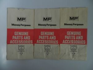Vintage Massey Ferguson Genuine Parts And Accessories Bags Lot Of 3